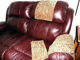 leather couch arm covers sofa headrest covers custom made chair arm available leather couch recliner leather