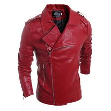 mens motorcycle suede jacket solid style red black white faux leather jackets men korean slim fit male brand punk man coat fall jackets mens mens