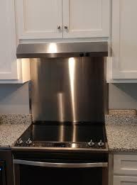 Kitchen Stainless Steel Backsplash Custom Stainless Steel Backsplash Stainlessnc