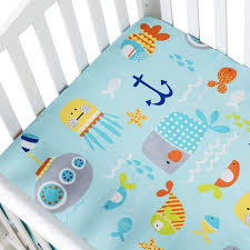 ocean anchor baby crib sheet boys girl