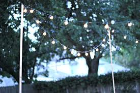 How To Hang String Lights In Backyard Without Trees Extraordinary How To Hang String Lights In Backyard Without Trees Unique How To