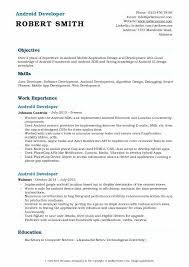 Mobile Developer Resume Android Developer Resume Doc Here Are Pl Templates Free Word D