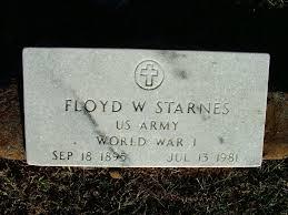 floyd w starnes 1895 1981 a grave memorial floyd w starnes