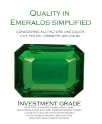 Emerald Type Chart Emerald Quality Chart Worlds First Of A Kind