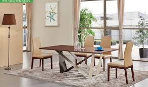 Walnut Living Room Furniture Sets 1533 Dining Table With 2082 Chair Dining Set In Walnut Free