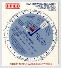 Slide Charts On Hacksaw Band Saw Blades Slide O Chart