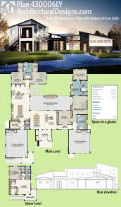 modern house plans. Beautiful House Architectural Designs Modern House Plan 430006LY Has An Upper Level Inlaw  Or Guest Suite Complete With A Bedroom Living Room And Kitchen Stairs That  To Plans R