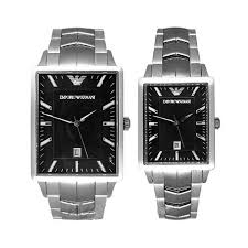 emporio armani his hers classic watches ar2421 ar2422
