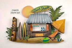on tiki metal wall art with tiki surf shack handcrafted metal wall hanging