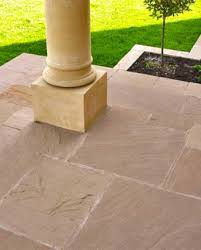 natural patio stones. Wonderful Natural Raj Green Sandstone Paving Patio Kit In Natural Stones