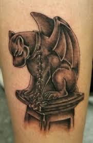 Gargoyle Dog With A Chain Around Neck Tattoo Tattoos Book 65000