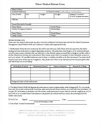 Medical Release Form For Child Adorable Child Medical Consent Form Template Sample Free Lulusheshe