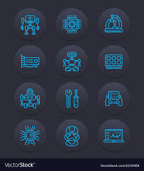 Mechanical Engineering Robots Robotics Mechanical Engineering Robots Icons
