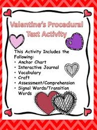 Valentines Procedural Text And Comprehension