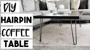 diy decor diy hairpin leg coffee table for 100