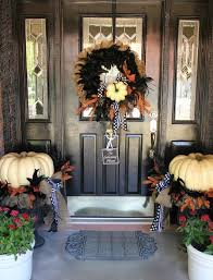 front door decor summerFront Doors Chic Fall Front Door Idea Diy Front Door Decor