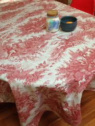 red toile oilcloth from paris
