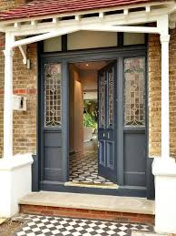 blue front door colors entry with stained glass panels reclaimed victorian doors do