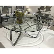 40 round modern glass top table