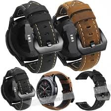 berfine extra soft genuine leather watch strap band replacement for men and 22mm for
