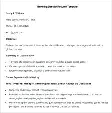 Manager Resume Templates Fascinating Marketing Resume Template Free Samples Examples Format Sample