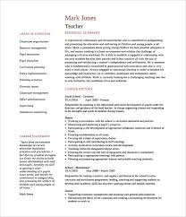 Teacher Resume Template Enchanting Teacher Cv Template Canreklonecco