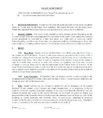 Tenant Lease Agreement Template – Poquet