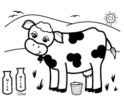 Small Picture Cow Coloring Pages For Toddlers Coloringstar Coloringeastcom