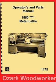 9x20 metal lathe parts manual jet enco grizzly msc asian 0776 jet enco msc asian 1550 t metal lathe instructions parts manual 1178