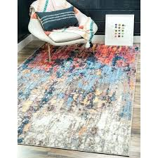 orange and blue area rug downtown orange blue area rug downtown west village orange blue area