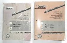 oldsmobile aurora repair manual 1996 oldsmobile aurora and buick riviera service repair manual set original gm