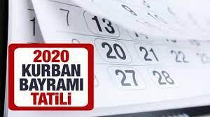 Kurban Bayramı tatili kaç gün olacak? 2020 Kurban Bayramı ne zaman  başlıyor? - GÜNCEL Haberleri