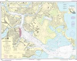 Noaa Navigation Charts Noaa Nautical Chart 13272 Boston Inner Harbor