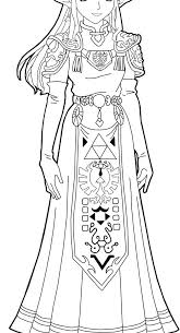 Princess Zelda Coloring Pages Coloring Page Of The Princess From The