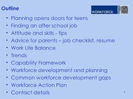 Work advice for teens