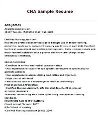 Cna Resume Magnificent Cna Resume Example Sample For Summary Of A Best Folous