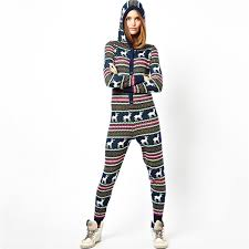 Pa0008a Knitted Christmas Fairisle Onesie For Women - Buy ...