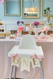honey we re home jordan s first birthday party a garden party one high chair banner