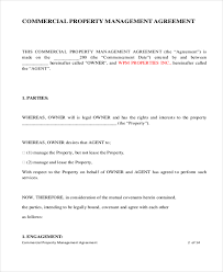 Commercial Property Management Lease Agreement Template ...