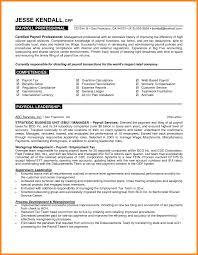 Dorable Payroll Manager Skills Resume Composition Documentation