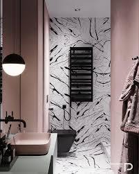 incredible pink black bathroom designs