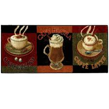 Cafe Latte Kitchen Decor Amazoncom Mohawk Home New Wave Caffe Latte Primary Printed Rug
