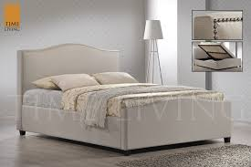 Ottoman Bedroom Time Living Brunswick Side Ottoman Fabric Bed Frame Hamseys