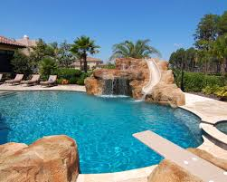 swimming pools with slides and diving boards. Simple Diving Excellent Swimming Pool With Diving Boards  Mediterranean Slide  Board And Water Fountain Intended Pools Slides D