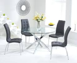 grey round dining table and chairs round dining table set for 4 3 mark glass round