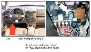 06 beetle, fuel pump problems !! newbeetle org forums vw golf fuel pump relay location at Jetta Fuel Pump Relay Diagram