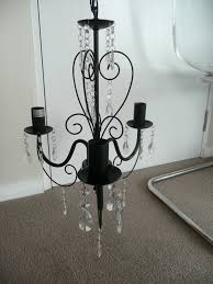 black metal 3 arm chandelier ceiling light