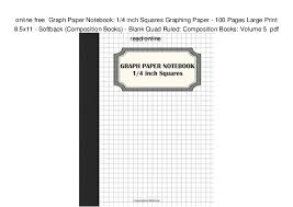 Online Free Graph Paper Notebook 1 4 Inch Squares Graphing