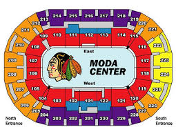 Moda Center Hockey Seating Chart Moda Center Portland Oregon Bob Busser