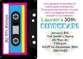 birthday invitation template 30th